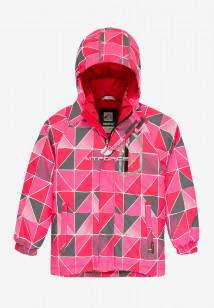 Купить оптом куртку демисезонную подростковую для девочки розового цвета 016-1R в интернет магазине MTFORCE.RU