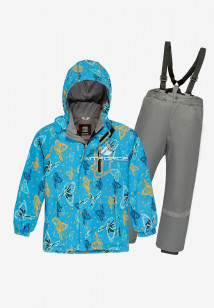 Купить оптом костюм подростковый демисезонный для девочки голубого цвета 0016Gl в интернет магазине MTFORCE.RU