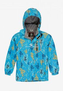 Купить оптом куртку демисезонную подростковую для девочки голубого цвета 016Gl в интернет магазине MTFORCE.RU
