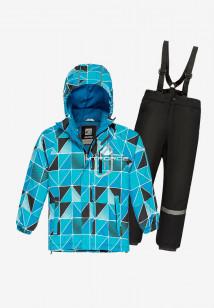 Купить оптом костюм подростковый демисезонный для мальчика голубого цвета 0017Gl в интернет магазине MTFORCE.RU
