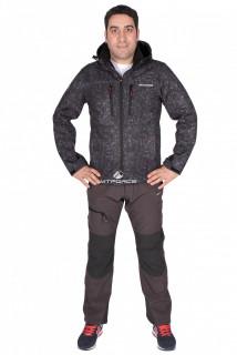 Купить оптом костюм виндстопер мужской черного цвета 01733Ch в интернет магазине MTFORCE.RU