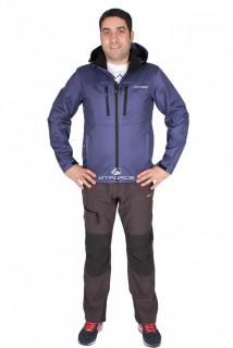Купить оптом костюм виндстопер мужской фиолетового цвета 01733F в интернет магазине MTFORCE.RU