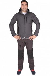 Купить оптом костюм виндстопер мужской серого цвета 01733Sr в интернет магазине MTFORCE.RU