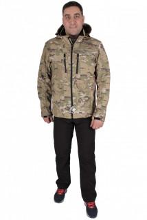 Купить оптом костюм виндстопер мужской бежевого цвета 01732B в интернет магазине MTFORCE.RU