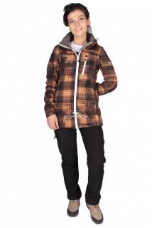 Купить оптом костюм виндстопер женский оранжевого цвета 01735O в интернет магазине MTFORCE.RU
