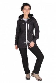 Купить оптом костюм виндстопер женский черного цвета 01735Ch в интернет магазине MTFORCE.RU