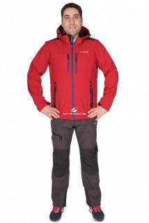 Купить оптом костюм виндстопер мужской бордового цвета 01739Bo в интернет магазине MTFORCE.RU