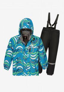Купить оптом костюм подростковый демисезонный для мальчика синего цвета 0017-1S в интернет магазине MTFORCE.RU
