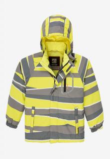 Купить оптом куртку демисезонную подростковую для мальчика желтого цвета 017J в интернет магазине MTFORCE.RU