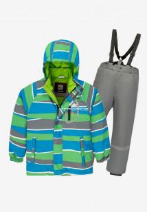 Купить оптом костюм подростковый демисезонный для мальчика зеленого цвета 0017Z в интернет магазине MTFORCE.RU