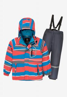 Купить оптом костюм подростковый демисезонный для мальчика красного цвета 0017Kr в интернет магазине MTFORCE.RU