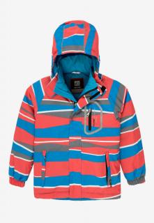 Купить оптом куртку демисезонную подростковую для мальчика красного цвета 017Kr в интернет магазине MTFORCE.RU