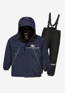 Купить оптом костюм подростковый демисезонный для мальчика темно-синего цвета 0017TS в интернет магазине MTFORCE.RU