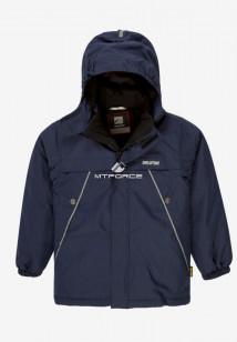 Купить оптом куртку демисезонную подростковую для мальчика темно-синего цвета 017TS в интернет магазине MTFORCE.RU