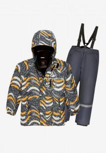 Купить оптом костюм подростковый демисезонный для мальчика темно-серого цвета 0017TC в интернет магазине MTFORCE.RU