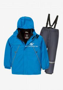 Купить оптом костюм подростковый демисезонный для мальчика синего цвета 0017-2S в интернет магазине MTFORCE.RU