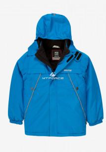 Купить оптом куртку демисезонную подростковую для мальчика синего цвета 017-2S в интернет магазине MTFORCE.RU