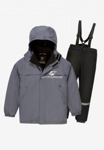 Купить оптом костюм подростковый демисезонный для мальчика серого цвета 0017Sr в интернет магазине MTFORCE.RU
