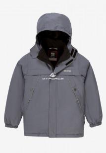 Купить оптом куртку демисезонную подростковую для мальчика серого цвета 017Sr в интернет магазине MTFORCE.RU