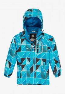 Купить оптом куртку демисезонную подростковую для мальчика голубого цвета 017Gl в интернет магазине MTFORCE.RU