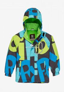 Купить оптом куртку демисезонную подростковую для мальчика синего цвета 017S в интернет магазине MTFORCE.RU