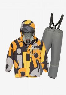 Купить оптом костюм подростковый демисезонный для мальчика оранжевого цвета 0017O в интернет магазине MTFORCE.RU