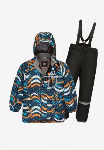 Купить оптом костюм подростковый демисезонный для мальчика оранжевого цвета 0017-1O в интернет магазине MTFORCE.RU