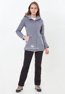 Спортивный костюм женский осенний весенний softshell серого цвета купить оптом в интернет магазине MTFORCE 018125Sr