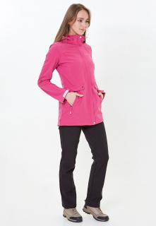 Спортивный костюм женский осенний весенний softshell розового цвета купить оптом в интернет магазине MTFORCE 018125-1R