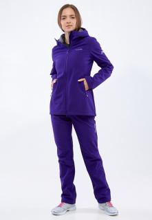 Спортивный костюм женский осенний весенний softshell темно-фиолетового цвета купить оптом в интернет магазине MTFORCE 01816-1TF