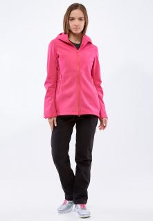 Спортивный костюм женский осенний весенний softshell малинового цвета купить оптом в интернет магазине MTFORCE 01816-1M