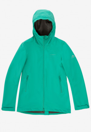 Купить оптом ветровку softshell женская зеленого цвета 1816-1Z в интернет магазине MTFORCE.RU