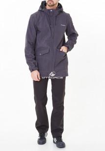 Спортивный костюм мужской осенний весенний softshell темно-серого цвета купить оптом в интернет магазине MTFORCE 01904TС