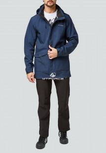 Спортивный костюм мужской осенний весенний softshell темно-синего цвета купить оптом в интернет магазине MTFORCE 01904TS
