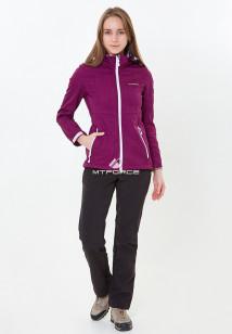 Спортивный костюм женский осенний весенний softshell фиолетового цвета купить оптом в интернет магазине MTFORCE 01907-1F