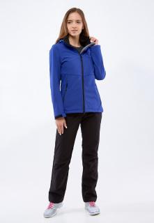 Спортивный костюм женский осенний весенний softshell темно-синего цвета купить оптом в интернет магазине MTFORCE 01907TS
