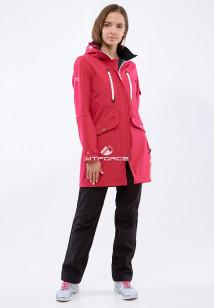 Спортивный костюм женский осенний весенний softshell малинового цвета купить оптом в интернет магазине MTFORCE 01911-1M