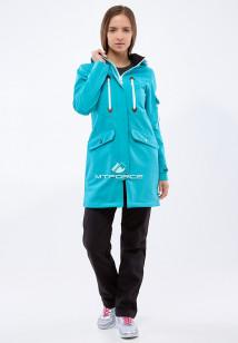 Спортивный костюм женский осенний весенний softshell бирюзового цвета купить оптом в интернет магазине MTFORCE 01911-1Br