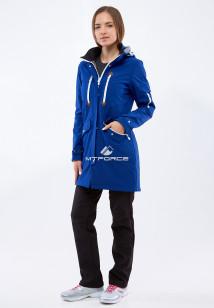 Спортивный костюм женский осенний весенний softshell темно-синего цвета купить оптом в интернет магазине MTFORCE 01911-1TS