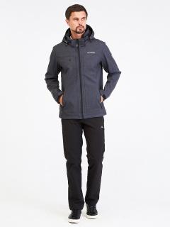 Спортивный костюм мужской осенний весенний softshell темно-серого цвета купить оптом в интернет магазине MTFORCE 01915TC