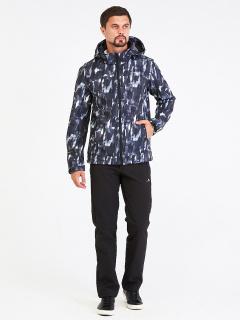 Спортивный костюм мужской осенний весенний softshell серого цвета купить оптом в интернет магазине MTFORCE 01915Sr