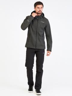 Спортивный костюм мужской осенний весенний softshell цвета хаки купить оптом в интернет магазине MTFORCE 01915Kh