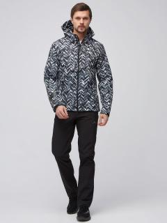 Спортивный костюм мужской осенний весенний softshell серого цвета купить оптом в интернет магазине MTFORCE 01915-1Sr