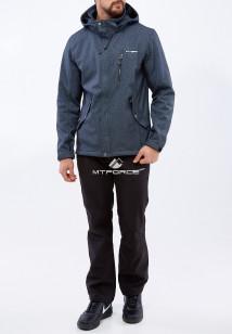 Спортивный костюм мужской осенний весенний softshell серого цвета купить оптом в интернет магазине MTFORCE 01920Sr