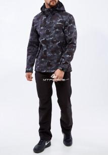Спортивный костюм мужской осенний весенний softshell темно-серого цвета купить оптом в интернет магазине MTFORCE 01920TC