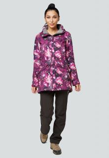 Спортивный костюм женский осенний весенний softshell фиолетового цвета купить оптом в интернет магазине MTFORCE 01922-2F