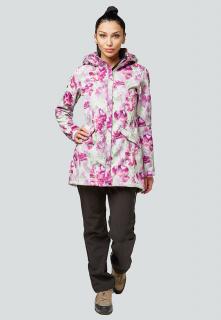 Спортивный костюм женский осенний весенний softshell розового цвета купить оптом в интернет магазине MTFORCE 01922-2R