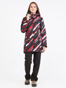 Спортивный костюм женский осенний весенний softshell красного цвета купить оптом в интернет магазине MTFORCE 019221Kr