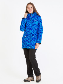 Спортивный костюм женский осенний весенний softshell синего цвета купить оптом в интернет магазине MTFORCE 019221S