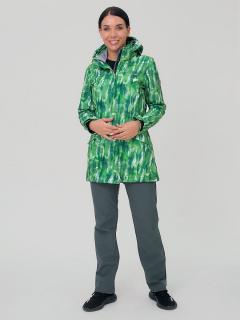 Спортивный костюм женский осенний весенний softshell зеленого цвета купить оптом в интернет магазине MTFORCE 019221Z